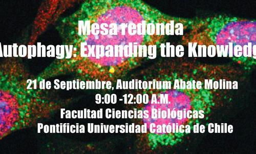 Invitación Mesa redonda «Autophagy: Expanding the knowledge»