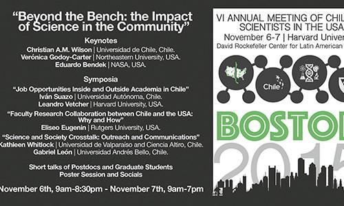 BOSTON 2015 VI Annual Meeting of Chilean Scientist in the USA, November 6-7, Harvard University