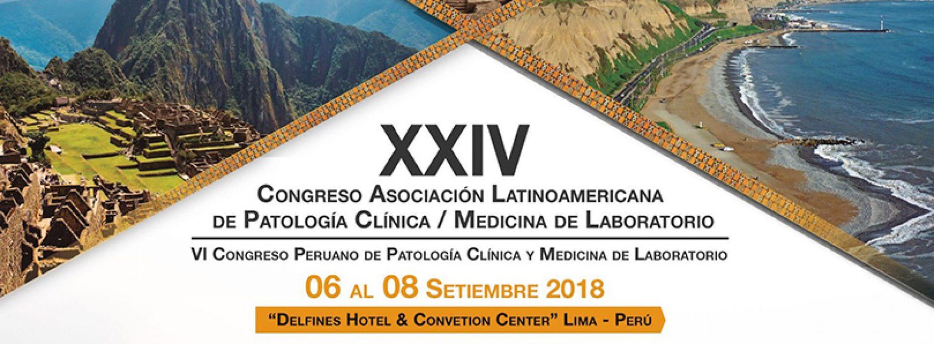 XXIV Congreso Asociación Latinoamericana de Patología Clínica y Medicina de Laboratorio 2018