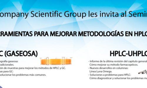 """Seminario """"Nuevas Herramientas para mejorar metodologías en HPLC-UPLC y GC"""""""