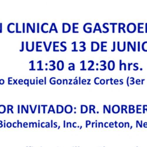 Reunión Clínica de Gastroenterología – Jueves 13 de Junio
