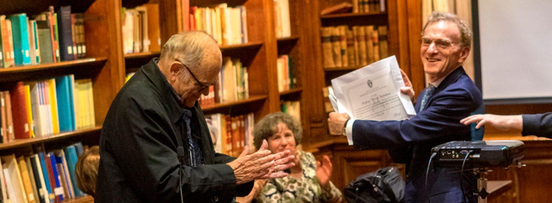 Premio Nobel de Medicina fue nombrado Miembro Honorario de la Academia de Ciencias