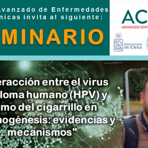 """""""Interacción entre el virus papiloma humano (HPV)  y humo del cigarrillo en carcinogénesis: evidencias y mecanismos"""".- 28 de mayo"""