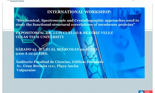 "INTERNATIONAL WORKSHOP: ""Biochemical Spectroscopic and Crystallographic approaches used to study the functional- structural correlations of membrane proteins"""
