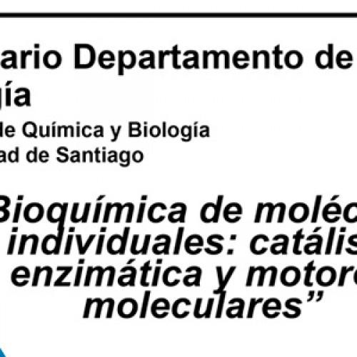 """Seminario de """"Bioquímica de moléculas individuales: catálisis enzimática y motores moleculares"""""""