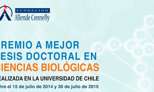 Premio a mejor Tesis Doctoral en Ciencias Biológicas