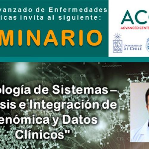 """SEMINARIO ACCDiS  """"Patología de Sistemas – Análisis e Integración de Genómica y Datos Clínicos"""""""
