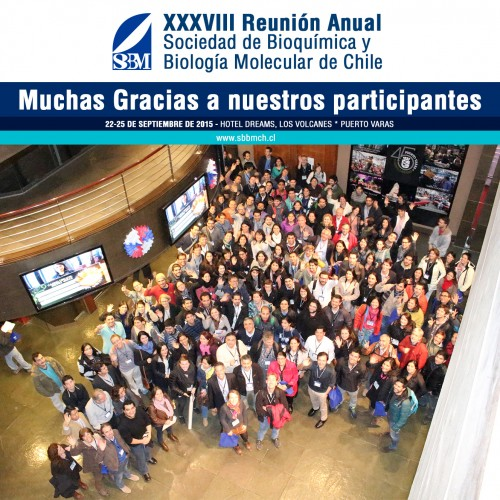 Thanks XXXVIII annual meeting society for Biochemistry and Molecular Biology of Chile