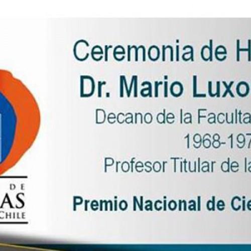 Ceremonia de homenaje al Dr. Mario Luxoro Mariani