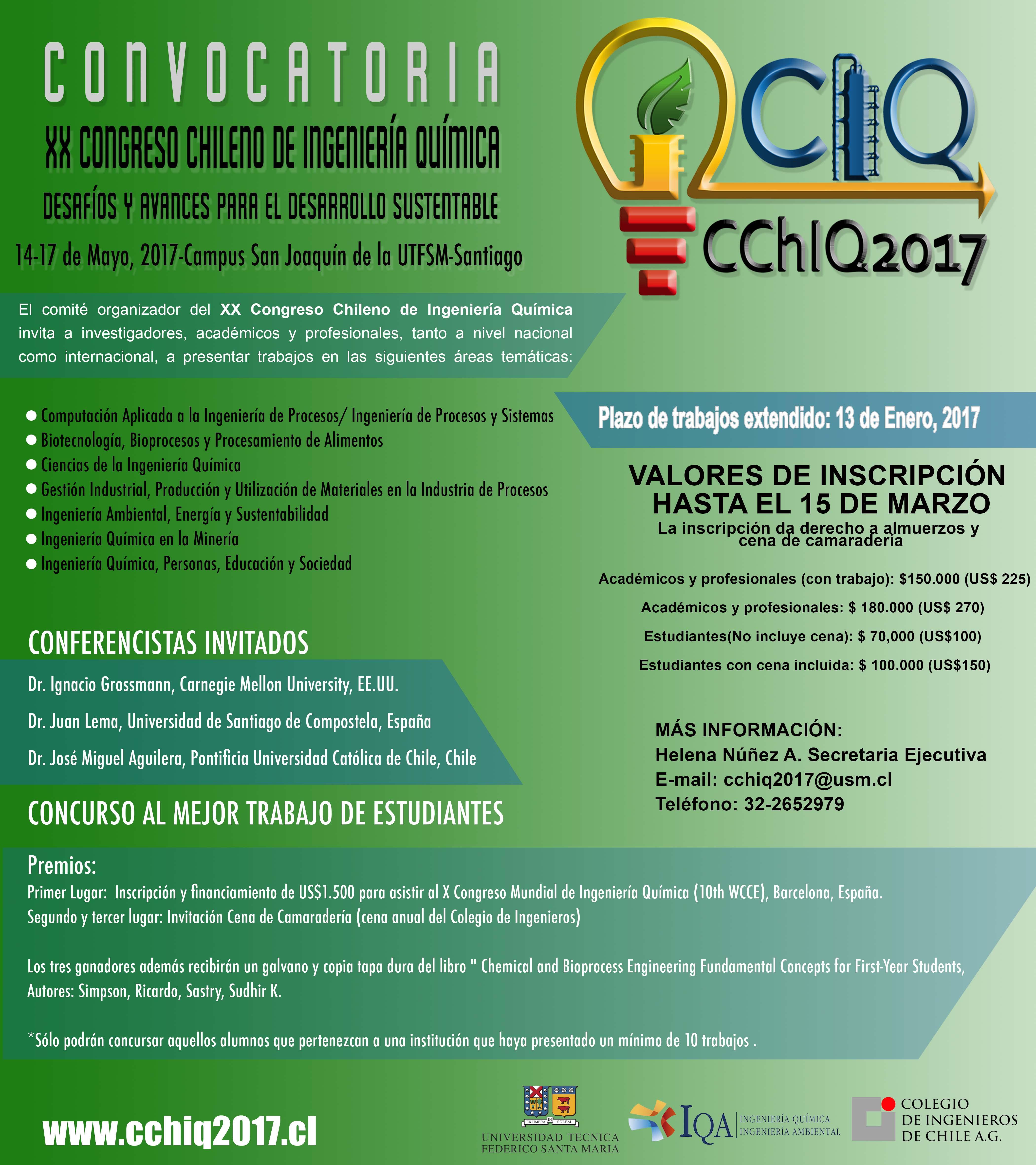 XX CONGRESO CHILENO DE INGENIERA QUMICA Y AMBIENTAL  Sociedad