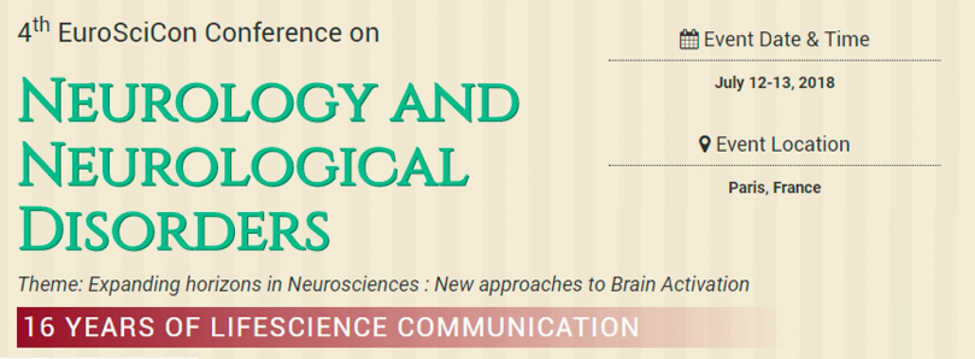 4th EuroSciCon Conference on Neurology and Neurological Disorders