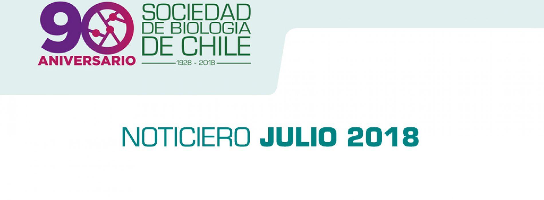 Noticiero Mes de Julio 2018, Sociedad de Biología de Chile