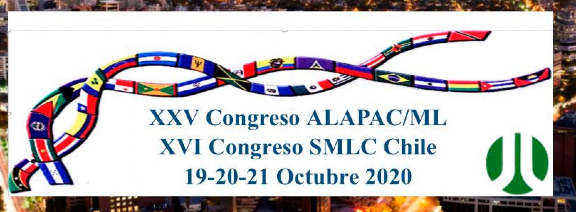 XXV Congreso Alapac-ML 2020 en Santiago
