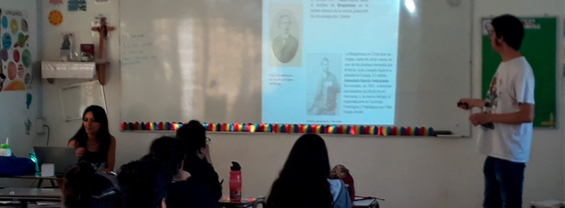 Postdoctorado Diego Quiroga-Roger difundió carrera en colegio Sagrados Corazones de La Reina