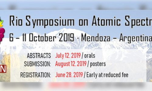 Important awards for poster and oral presentations! – 15th Rio Symposium on Atomic Spectrometry | 6 -11 October 2019 in Mendoza, Argentina