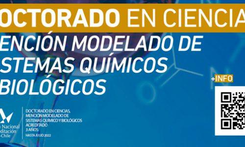 Doctorado en Ciencias Mención Modelado de Sistemas Químicos y Biológicos – Universidad de Talca