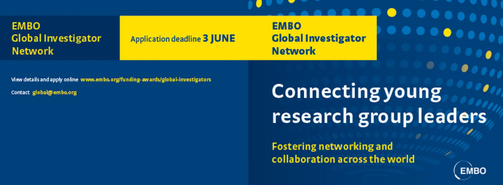 EMBO Global Investigator Network – Applications open!