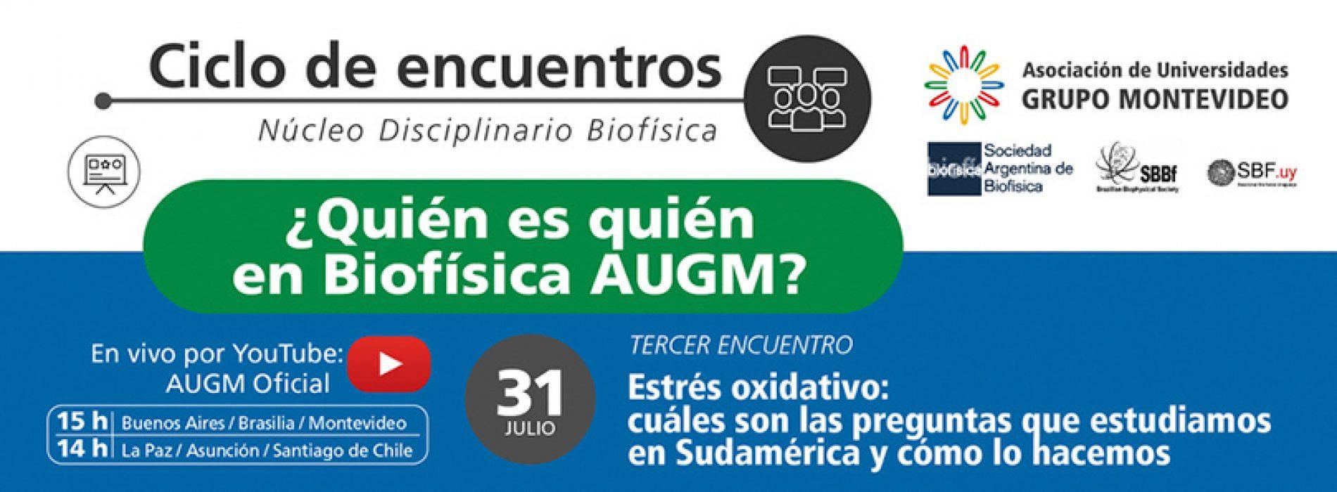 Ciclo de encuentros ¿Quién es quén en Biofísica AUGM?