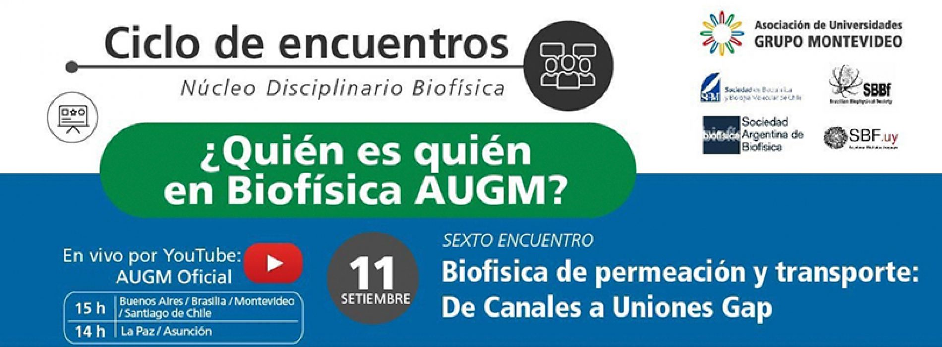 Meeting cycle What is what in AUGM Biophysics?