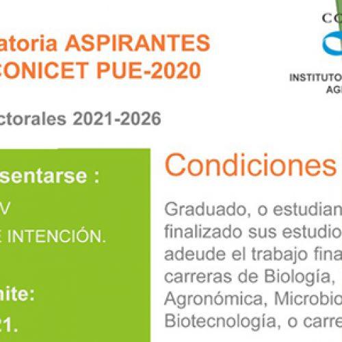 Convocatoria aspirantes Becas CONIVET PUE-2020