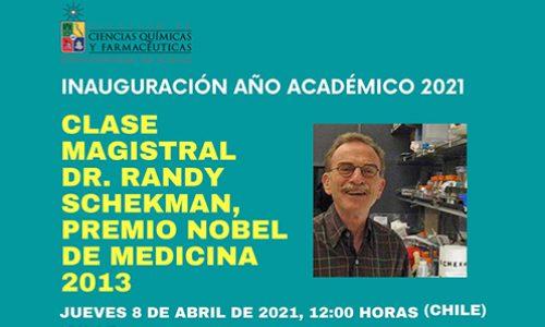 Randy Schekman Talk – Thursday, April 8, 12:00 hrs.