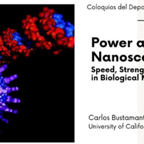 Coloquio: Power at the Nanoscale. Speed, Strength and Efficiency in Biological Motors