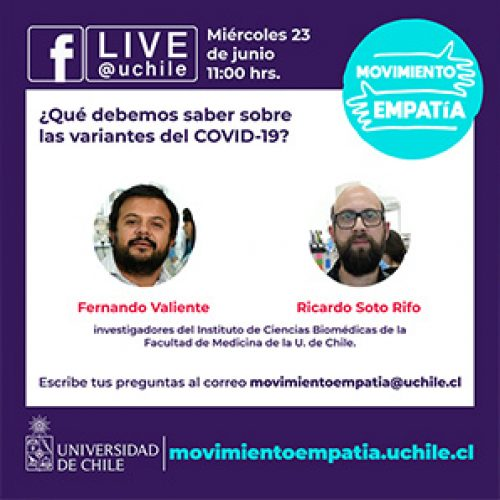 What should we know about variants of COVID-19? Facebook Live #MovimientoEmpatía streaming