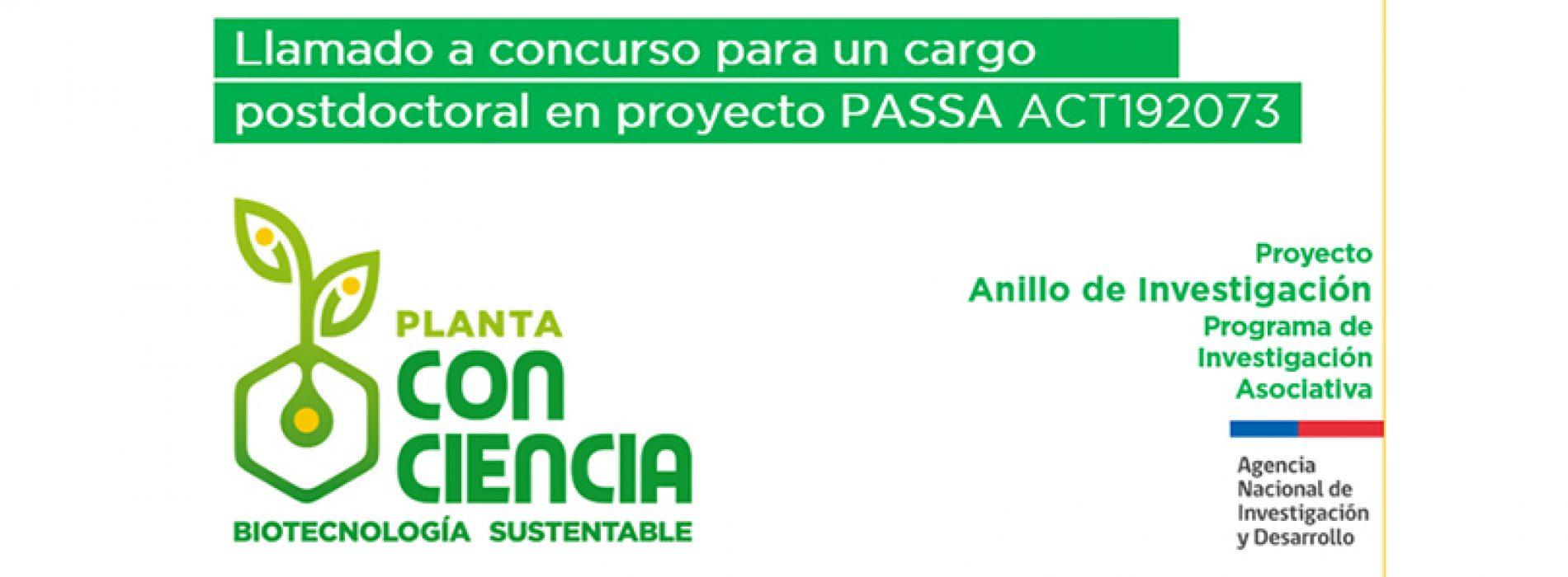 Llamado Concurso Postdoctoral Proyecto Anillo ACT192073
