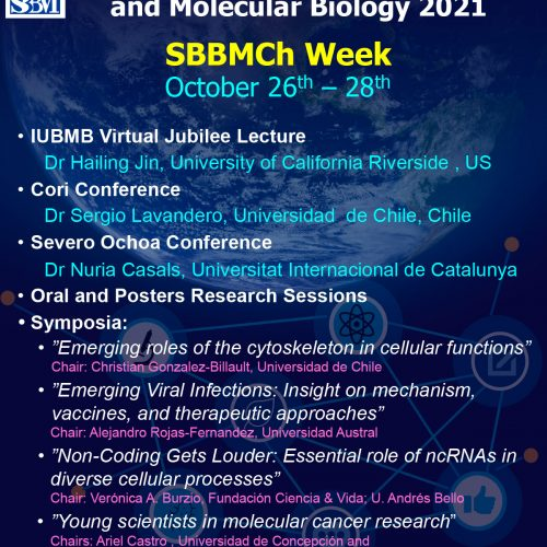 """Registration for attendance to the """"SBBMCh Week"""" will close on October 13th at 23:59 h (Chilean time). Hurry up!!"""
